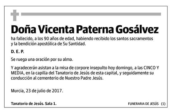 Vicenta Paterna Gosálvez