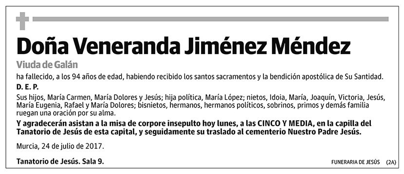 Veneranda Jiménez Méndez