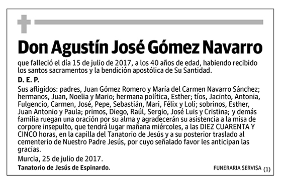 Agustín José Gómez Navarro