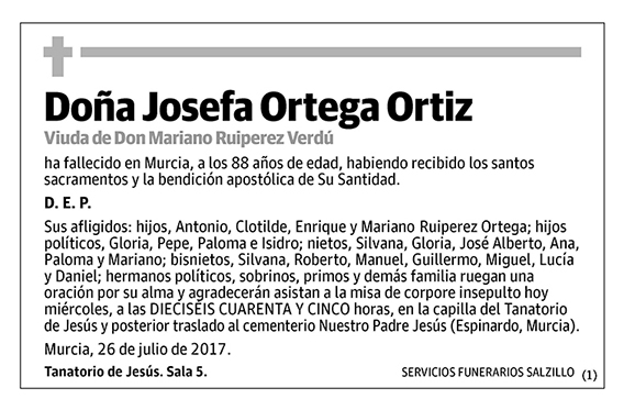 Josefa Ortega Ortiz