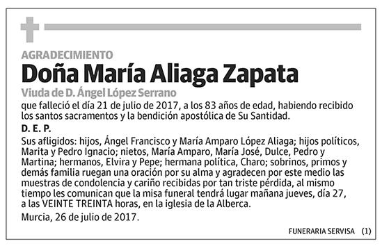 María Aliaga Zapata