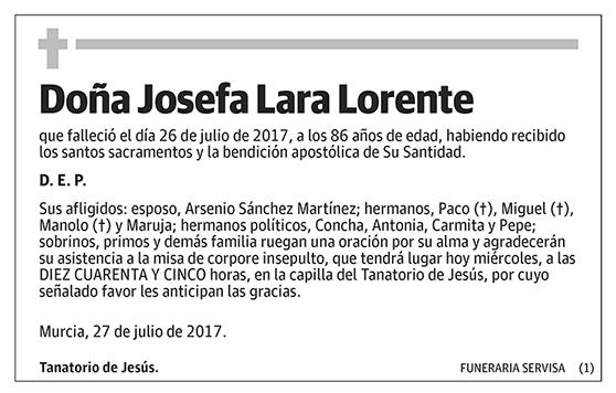 Josefa Lara Lorente