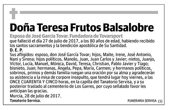Teresa Frutos Balsalobre