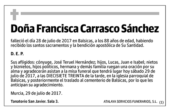 Francisca Carrasco Sánchez