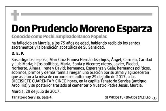 Prudencio Moreno Esparza