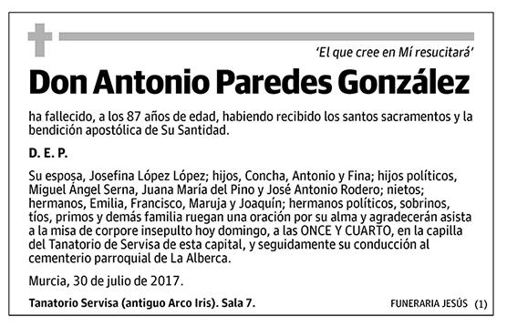 Antonio Paredes González