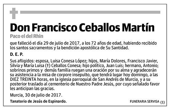 Francisco Ceballos Martín