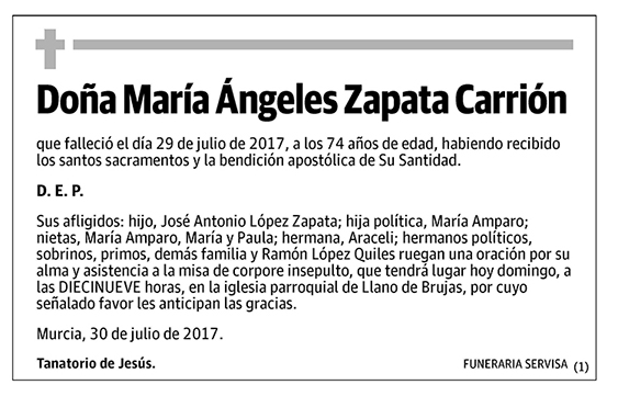 María Ángeles Zapata Carrión