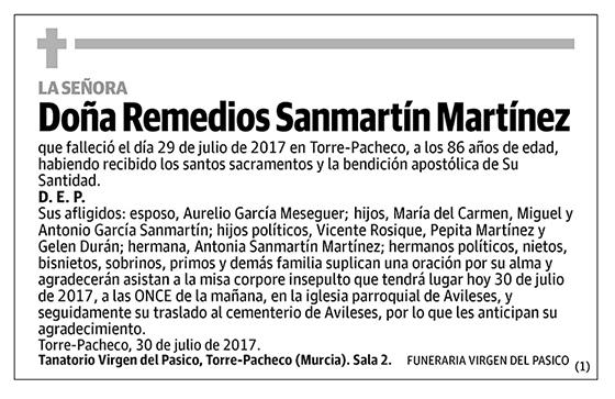 Remedios Sanmartín Martínez