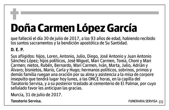Carmen López García
