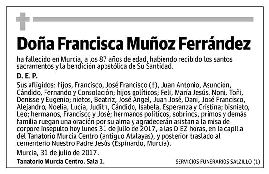 Francisca Muñoz Ferrández