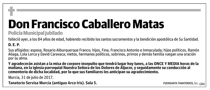Francisco Cabalelro Matas