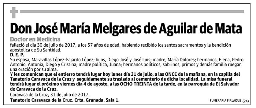 José María Melgares de Aguilar de Mata