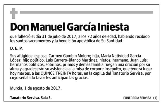Manuel García Iniesta