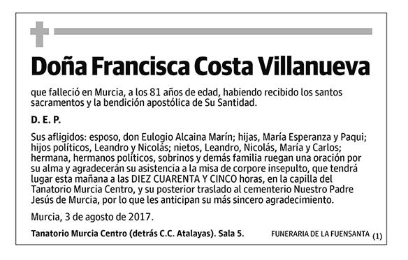 Francisca Costa Villanueva