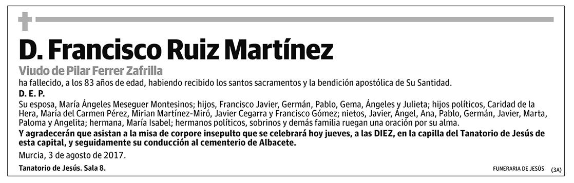 Francisco Ruiz Martínez