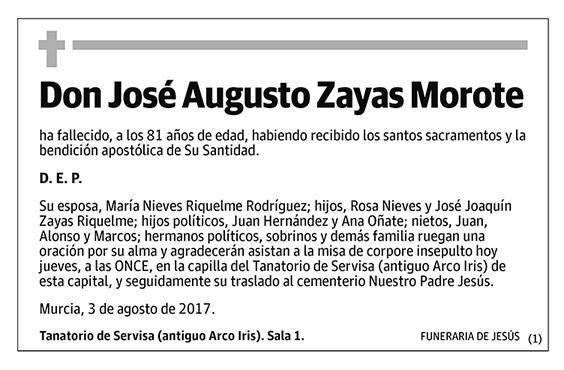 José Augusto Zayas Morote