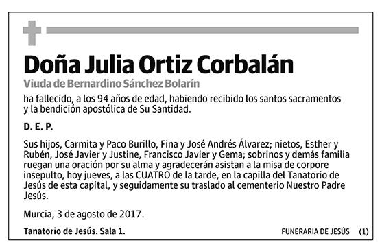 Julia Ortiz Corbalán
