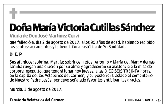 María Victoria Cutillas Sánchez