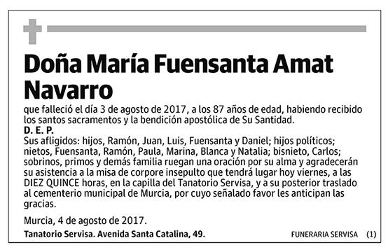 María Fuensanta Amat Navarro