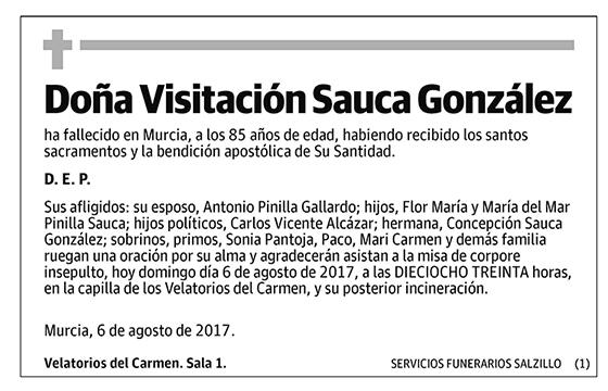 Visitación Sauca González