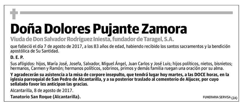 Dolores Pujante Zamora