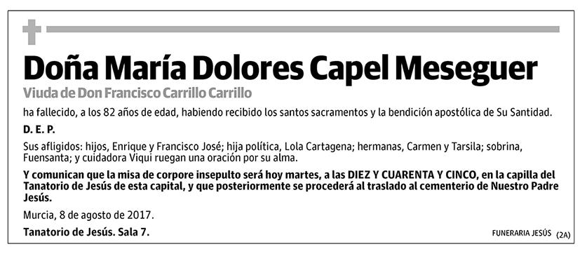 María Dolores Capel Mesenguer