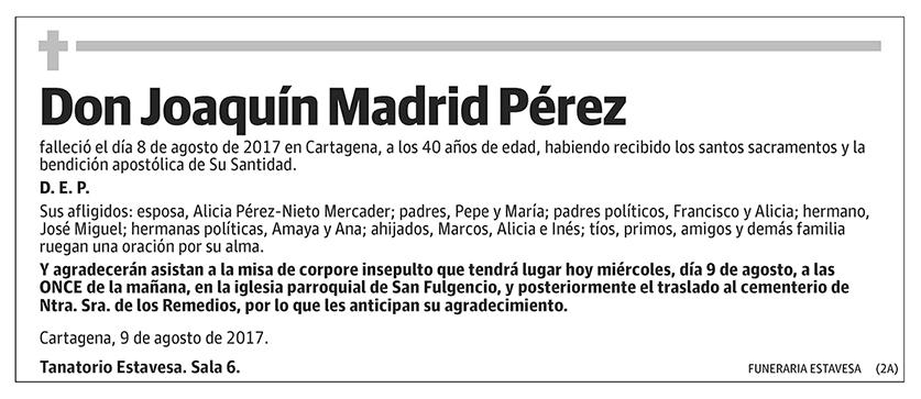 Joaquín Madrid Pérez