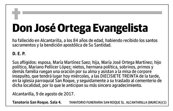 José Ortega Evangelista