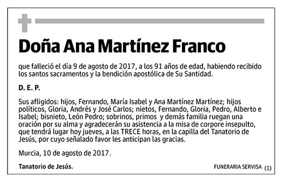 Ana Martínez Franco