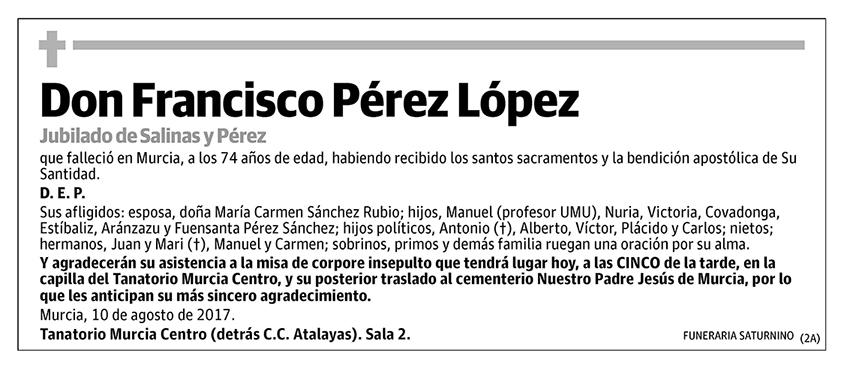 Francisco Pérez López