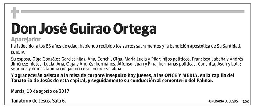 José Guirao Ortega