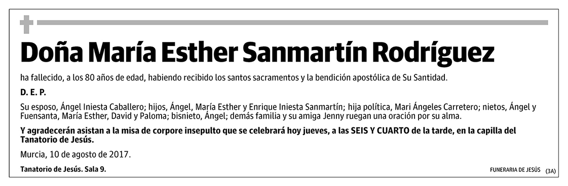 María Esther Sanmartín Rodríguez