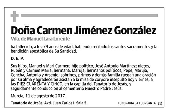 Carmen Jiménez González
