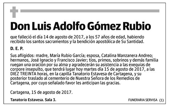 Luis Adolfo Gómez Rubio