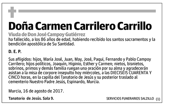 Carmen Carrilero Carrillo