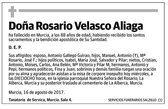 Rosario Velasco Aliaga