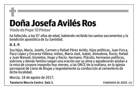 Josefa Avilés Ros