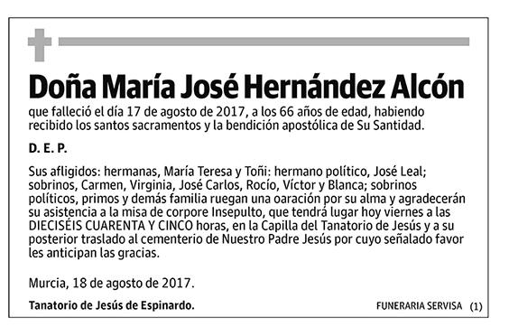María José Hernández Alcón