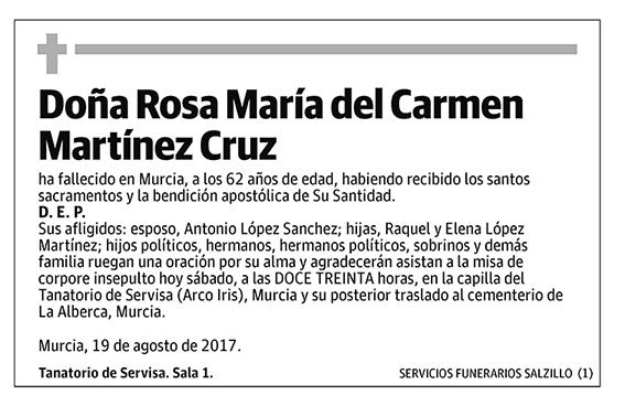 Rosa María del Carmen Martínez Cruz