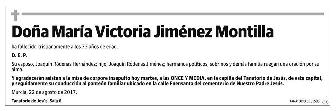 María Victoria Jiménez Montilla