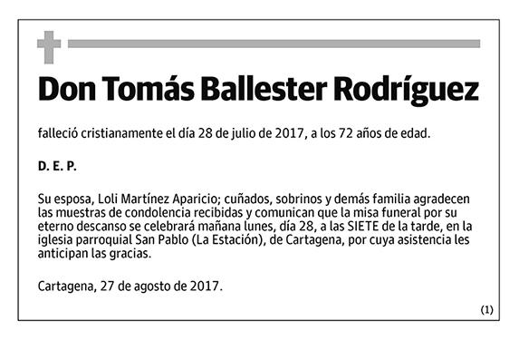 Tomás Ballester Rodríguez