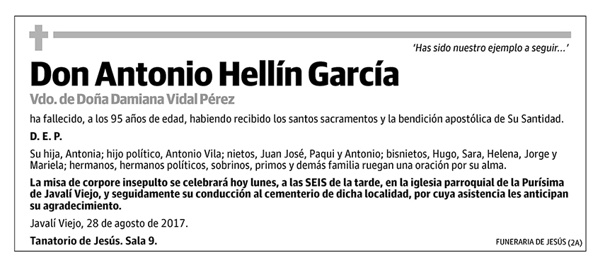 Antonio Hellín García
