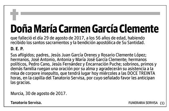 María Carmen García Clemente
