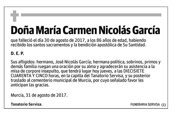 María Carmen Nicolás García