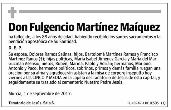 Fulgencio Martínez Maíquez