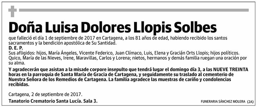Luisa Dolores Llopis Solbes