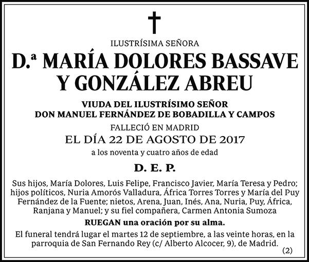 María Dolores Bassave y González Abreu