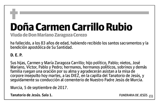Carmen Carrillo Rubio