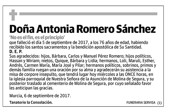 Antonia Romero Sánchez